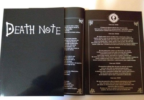 Caderno Death Note L Kira Ryuk Livro Da Morte Português