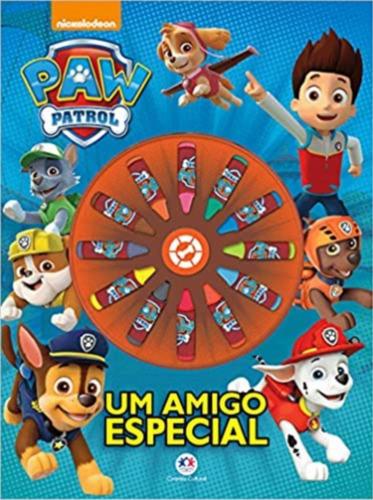 Livro Ciranda Das Cores - Patrulha Canina - Com Giz De Cera