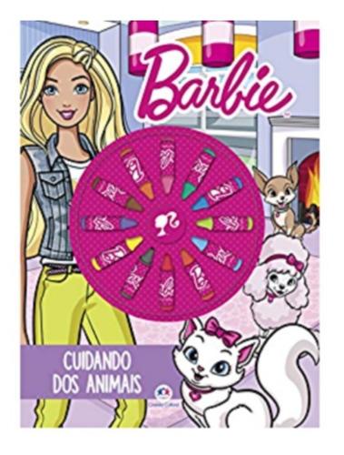 Livro Ciranda Das Cores - Barbie - Com Giz De Cera