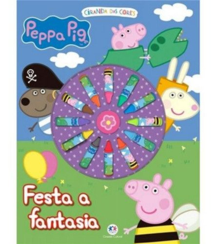 Livro Ciranda Das Cores - Peppa Pig - Com Gizes De Cera