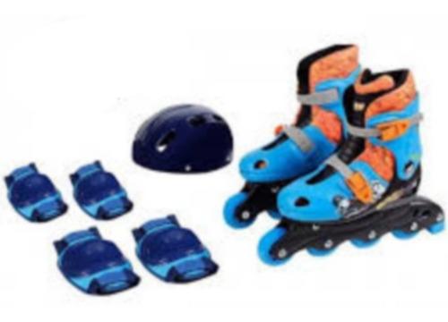 Patins Hot Wheels 4 Rodas Ajustáveis Com Kit De Segurança