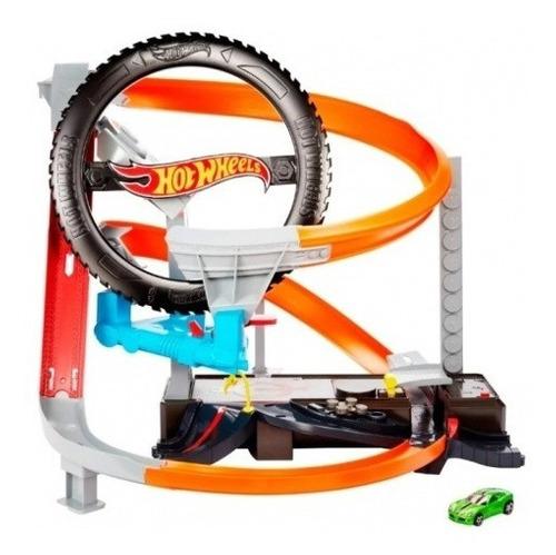 Pista Hot Wheels Motorizada Oficina Mecânica Pneus + Brinde