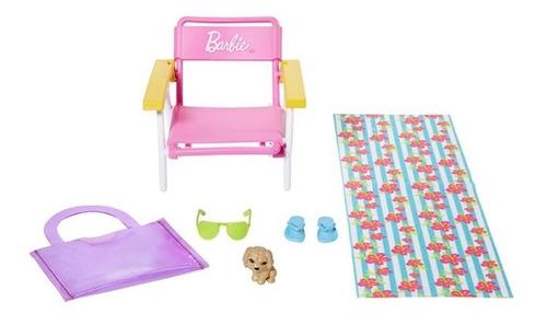 Boneca Barbie Cenario E Pet Dia Magico Na Praia Lançamento