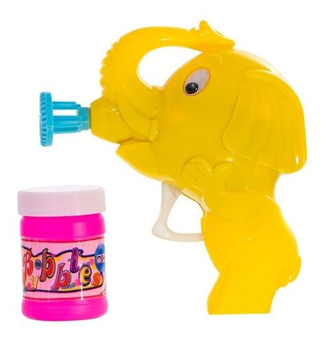 Lanca Bolha De Sabao Elefante Animal Friccao Amarelo