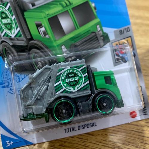 Carrinho Hot Wheels Total Disposal Caminhão De Lixo Ed 2021