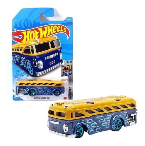 Carrinho Hot Wheels Surfin School Bus Onibus Escolar Ed 2021