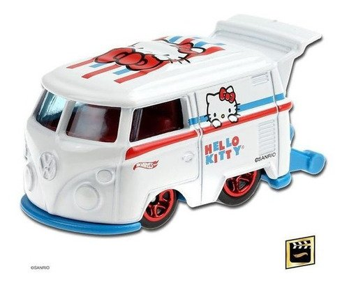 Carrinho Hot Wheels Kool Kombi Hello Kitty Edição Especial