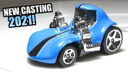 Carrinho Hot Wheels Tooned Twin Mill Azul Edição 2021