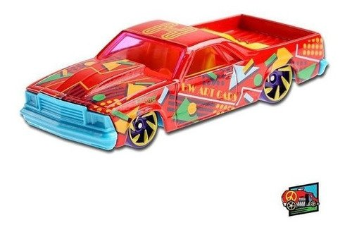 Carrinho Hot Wheels 80 El Camino Colorido Edição 2021