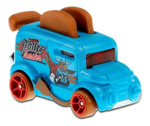 Carrinho Hot Wheels Roller Toaster Torradeira Ed Fast Foodie - Azul
