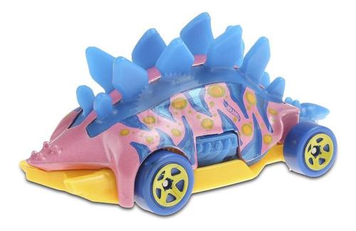 Carrinho Hot Wheels Dino Motosaurus Edição Montros Ed 2020 - Azul e Rosa