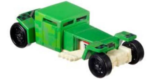 Carrinho Hot Wheels Minecraft Creeper Edição De Coleção