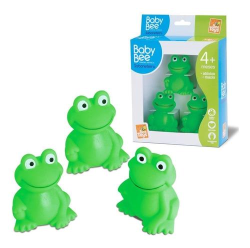 Baby Bee 3 Sapinho Verde - Bichinhos Pra Banho Bee Toys Fofo