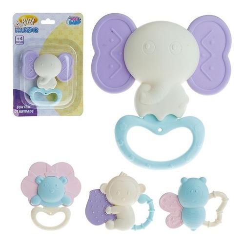 Kit 2 Mordedor Infantil Baby Animal Elefante - Urso Candy