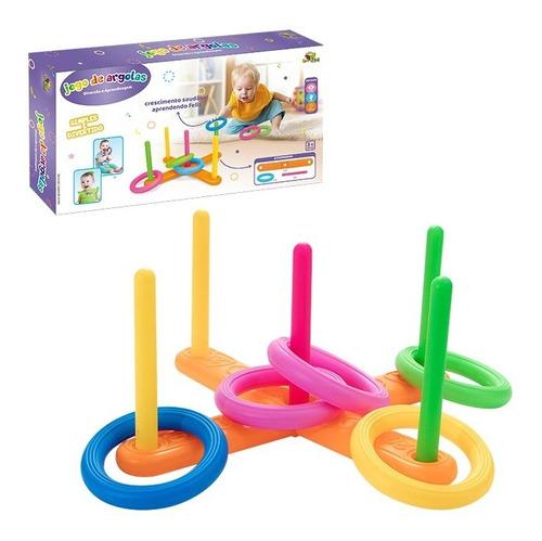 Jogo De Argolas Brinquedo Infantil Educativo Colorido