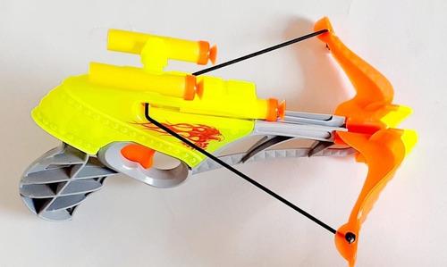 Arma Lança Dardos Arco E Flecha Arqueiro Colorido 22cm