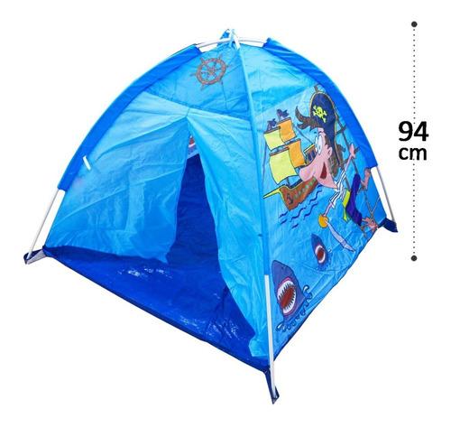 Barraca Tenda Iglu Esconderijo Pirata Azul Com Fio De Led