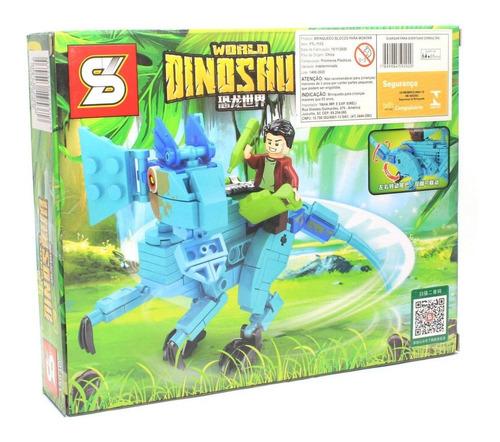 Bloco De Montar Dinossauro Com 201 Peças Dilofossauro