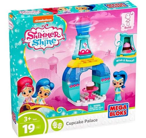 Bloco De Montar Shimmer Shine Palácio Festa Do Chá 19 Peças