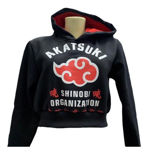 Blusa Moletom Naruto Akatsuki Aldeias Renegadas Com Capuz - P