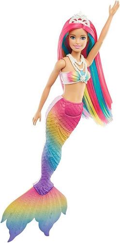Boneca Barbie Dreamtopia Sereia Mágica Arco-íris Muda De Cor