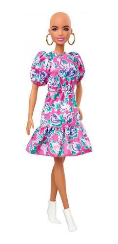 Boneca Barbie Fashionista Careca Vestiro Rosa Florido N 150