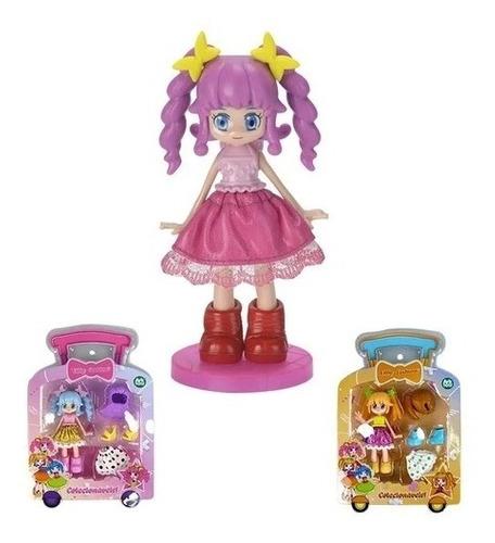 Boneca Lilly Fashion Coleção Infantil - Versão Anime Roxo
