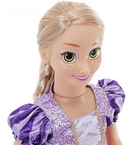 Boneca Princesa Rapunzel Grande 55 Cm De Altura Com Brinde