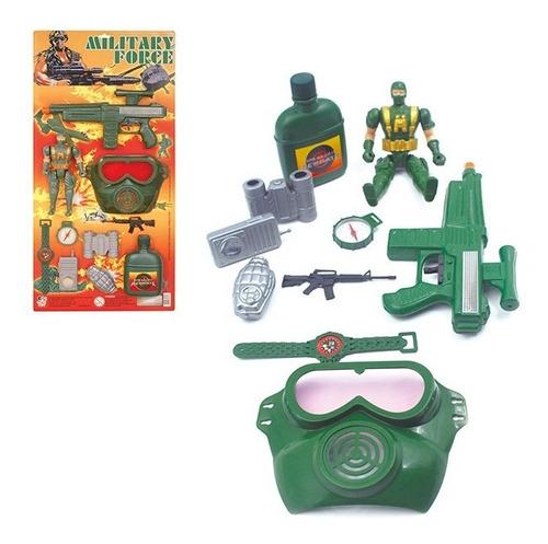 Boneco Com Kit Militar Com Varios Acessorios Mascara Ariminh