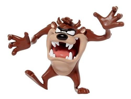 Boneco Figura Looney Tunnes Tasmanian Flexível De 10 Cm