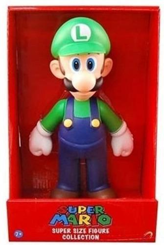 Boneco Figura Super Mario Boneco Luigi Big Size 20cm