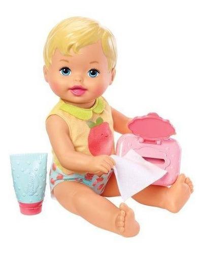 Boneco Little Mommy Momentos Do Bebe Trocando A Fralda