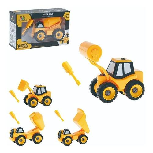 Caminhão Construção Monta E Desmonta 20 Cm Sortidos Amarelo