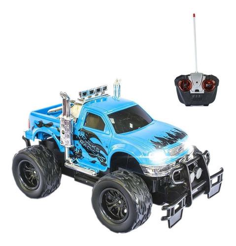 Carrinho De Controle Remto Picape 4x4 Trucks Radicais - Azul