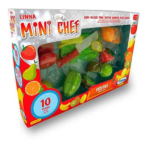 Comidinha Mini Chef Frutas 6 Peças - Xalingo - Com Velcro