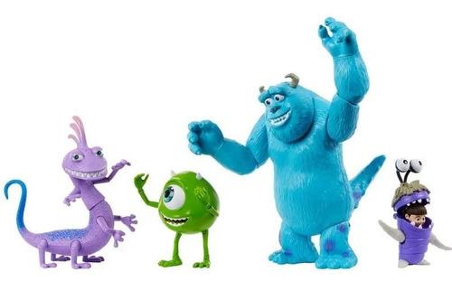 Conjunto Figura De Ação Disney Pixar Monstros S.a 4 Bonecos