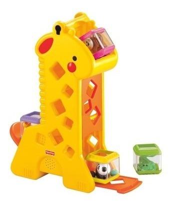 Fisher Price Girafa Divertida Com Blocos Pick A Block Mattel