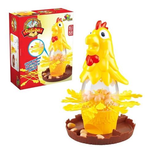Galinha Quebra Ovos Divertido Brinquedo Infantil Tira Pena