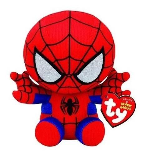 Homem Aranha Pelúcia Ty Beanie Babies Marvel - Spider Man