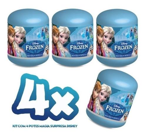 Kit 4 Unidades De Mini Boneca Frozen Magica Surpresa 7cm
