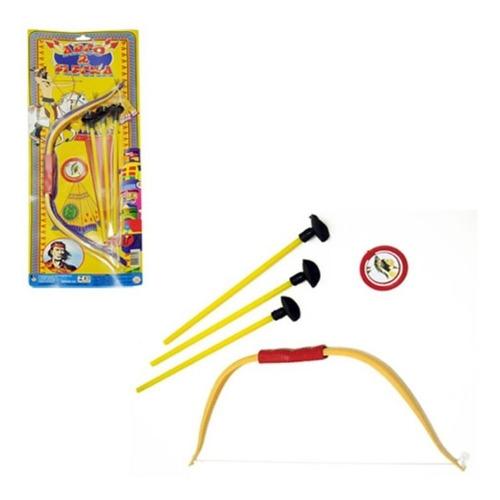 Kit Arco E Flecha Com 3 Ventosa E Alvo Infantil Brinquedo