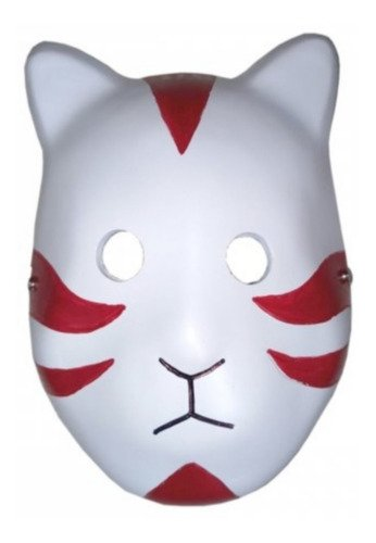 Mascara Anbu Branca Fibra Anime Naruto Cosplay