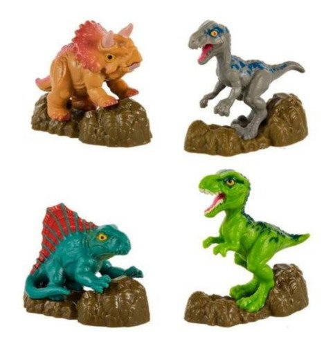 Mini Figuras Dinossauros Jurassic World Velociraptor Blue