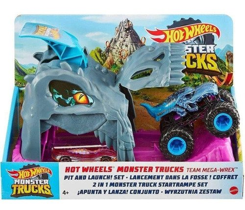 Pista De Corrida Hot Wheels Monster Trucks Radicais Extremo