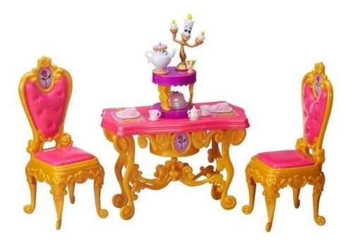 Playset Princesas Disney Hora Do Chá Da Bela E A Fera Luxo