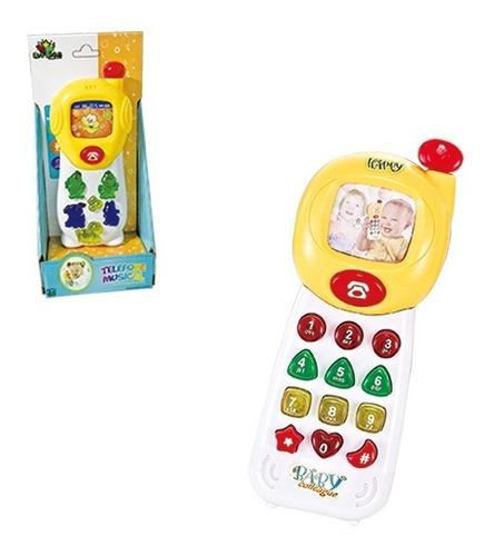 Telefone Infantil Baby Musical 18cm Musical E Colorido