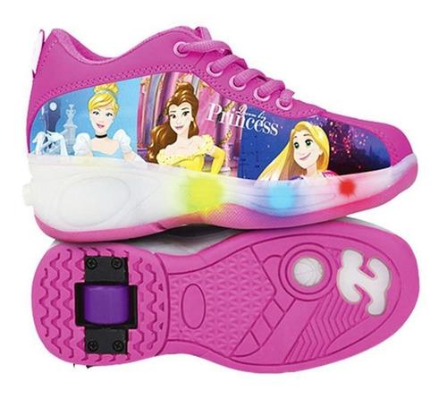 Tênis Princesas Disney Com Luzes E Rodinhas Tamanho 36 Dtc