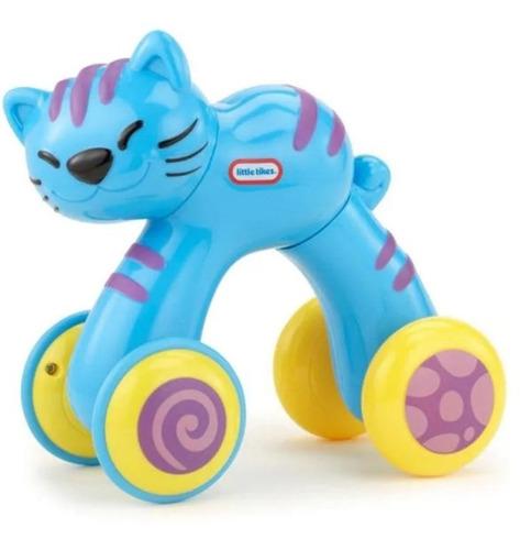 Boneco Little Tikes Gato De Arrastre Para Bebe Azul Fofo