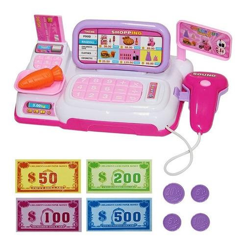 Caixa Registradora Infantil Com Luz Ascessorios E Lergume