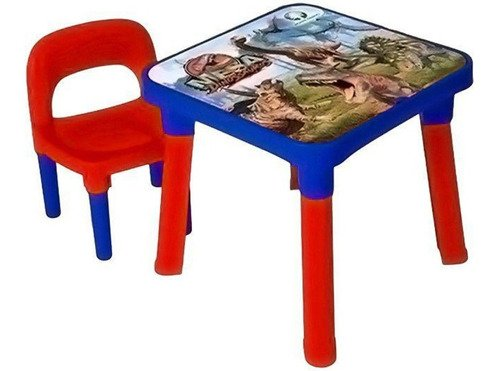 Mesinha Dinossauro Mágico C/ 1 Cadeira E Porta Objetos